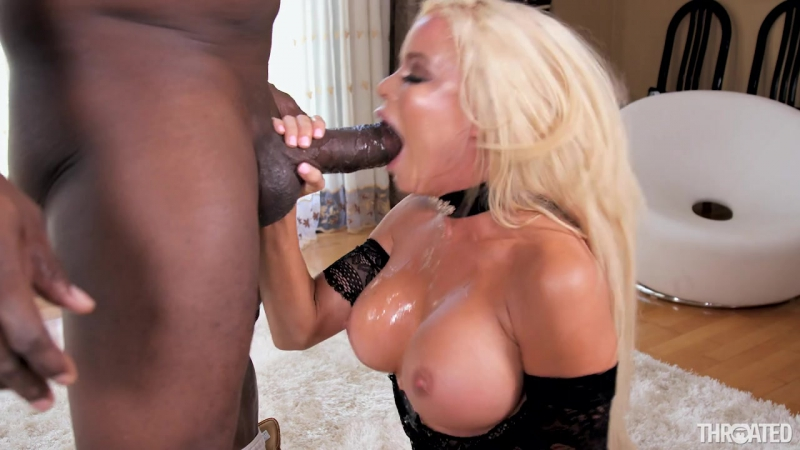 Nikki Delano Stretch My Throat Blonde, Blowjob, Swallowing, Gonzo, Big Ass, Big Tits, Interracial, Oral, New