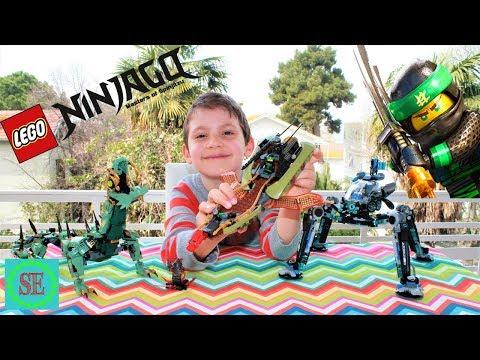 Новый набор Лего Ниндзяго и дракон с роботом-пауком Новый мультфильм с героями Лего Lego Ninjago