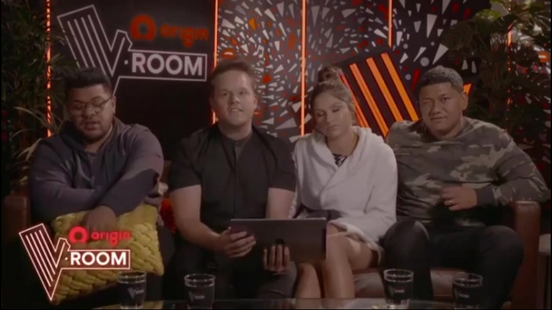 V-Room LIVE Join Chang, Bella and the two Bens backstage (The Voice Australia 2018)