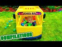 Compilations for babies 37 min Wheels on the Bus / 5 little baby / Orbeez / Unboxing LOL / Princess