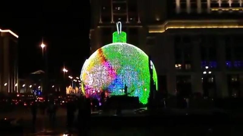 The Christmas Spirit on Manezhnaya Square. RUSSIA. LGBT TRAVELS © Copyright.