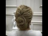 Один из вариантов прически на короткий волос