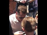 Chris with a little fan in LA 02.06.18