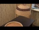 Плетение из лозы Хлебница с крышкой Wickerwork