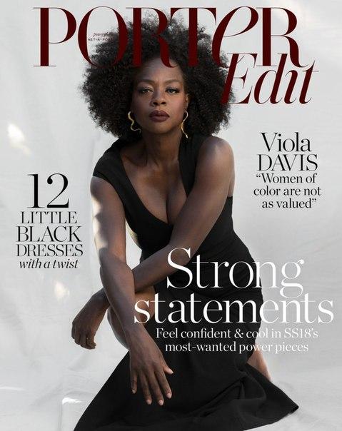 Виола Дэвис в съемке для мартовского выпуска журнала Porter / 2018