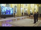 Сеанс связи Владимира Путина и Синдзо Абэ с экипажем МКС