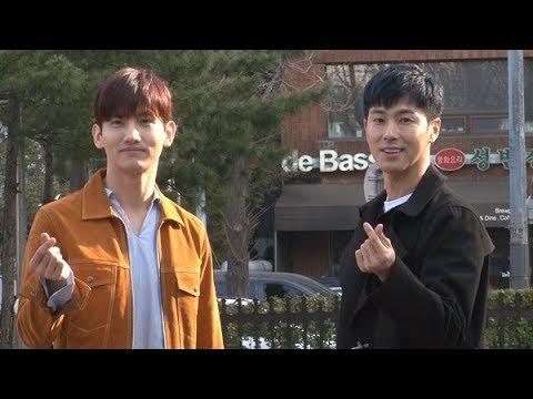[SSTV] 유노윤호·최강창민(동방신기TVXQ), 변함없는 비주얼 '손하트 뿜뿜' (뮤직뱅크)