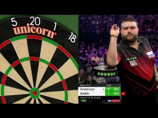 Gary Anderson vs Michael Smith (2018 Premier League Darts / Week 1)
