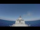 Пуски крылатых ракет Калибр с морских кораблей с подводных лодок в Средиземном Море Северный Флот России