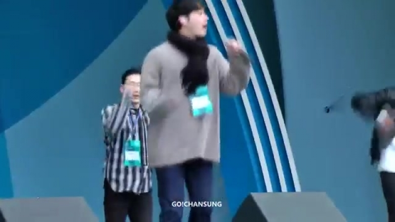 [Фанкам] 180219 2PM - Jump (Фокус на Чансона) @ 2018 PyeongChang Winter Olympic Headliner Show - Rehearsal