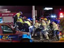 Brampton: Heavy entrapment after car crashes into a pole 2-19-2017