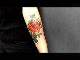 Цветная роза мастера Сергея
