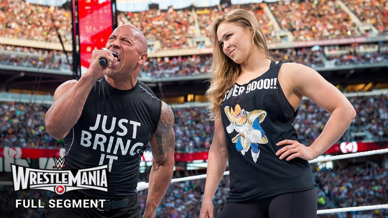 The «Jean»: FULL SEGMENT - The Rock and Ronda Rousey confront The Authority: WrestleMania 29 (WWE Network)