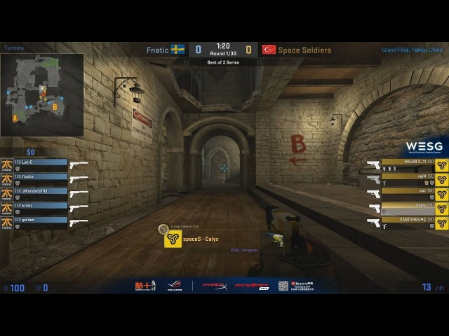 FNATIC vs Space Soldiers - WESG 2017 World Finals - GRAND FINAL Game1