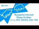 Фундаментальный Обзор На Март Обзор BitCoin BTC WAVES Cardano ADA Tron TRX