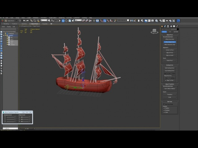 Modelling of the ship