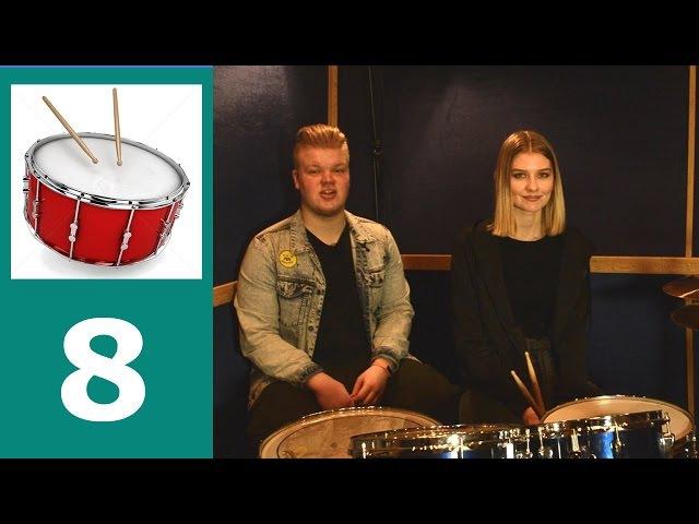 Как играть сбивки на барабанах, урок 8 , упражнения с нуля