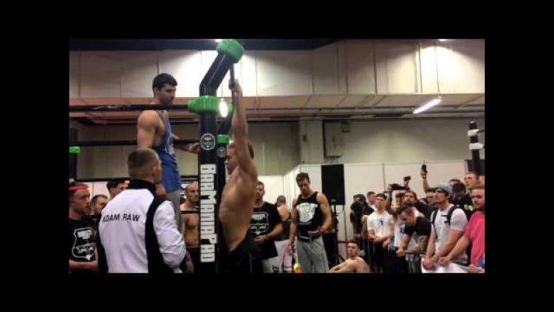 16 x 32kg Pull Ups King of the Bar Power Competition Frederik Imasuen