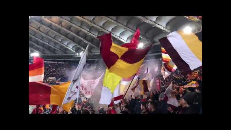 Forza Roma 💛❤️💪🏼 AS Roma - Atalanta Curva Sud 06.01.2018
