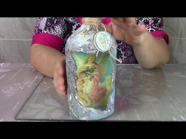 Применяем несколько техник декора. Бутылка для крещенской воды. ХоббиМаркет