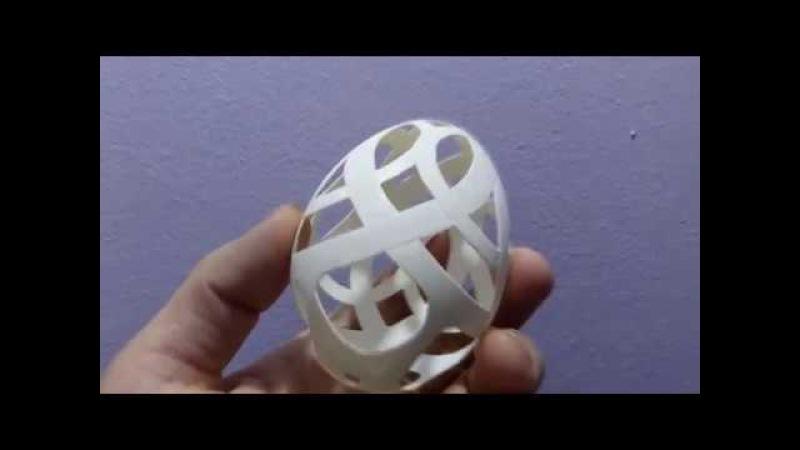 Резьба по скорлупе гусиного яйца. Переплетённые кольца
