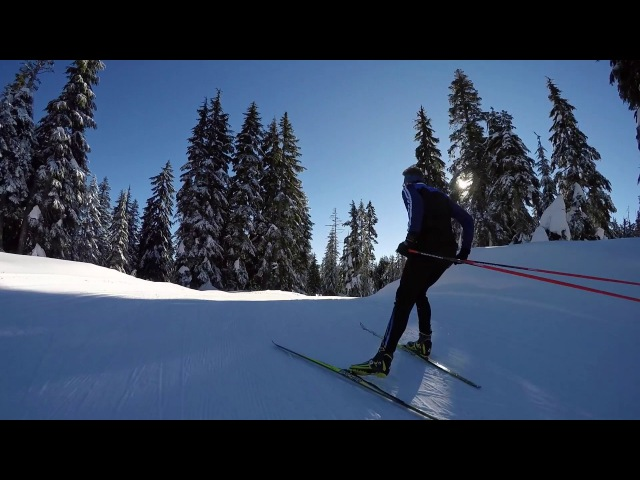 GoPro XC Skiing Downhill Session