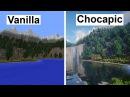 Minecraft Vanilla VS Chocapic13 V6 Extreme (Super Duper Graphics Pack) [4K/60FPS]