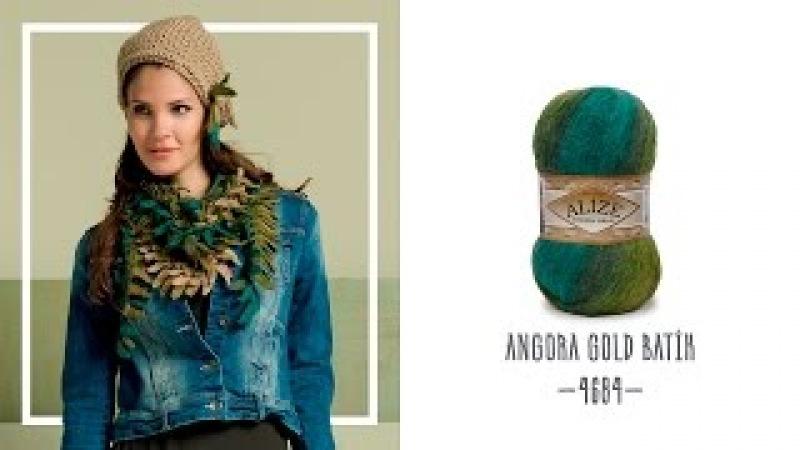 Alize Angora Gold Batik ile Yaprak Şal Yapımı Making Leaf Shawl with Alize Angora Gold Batik