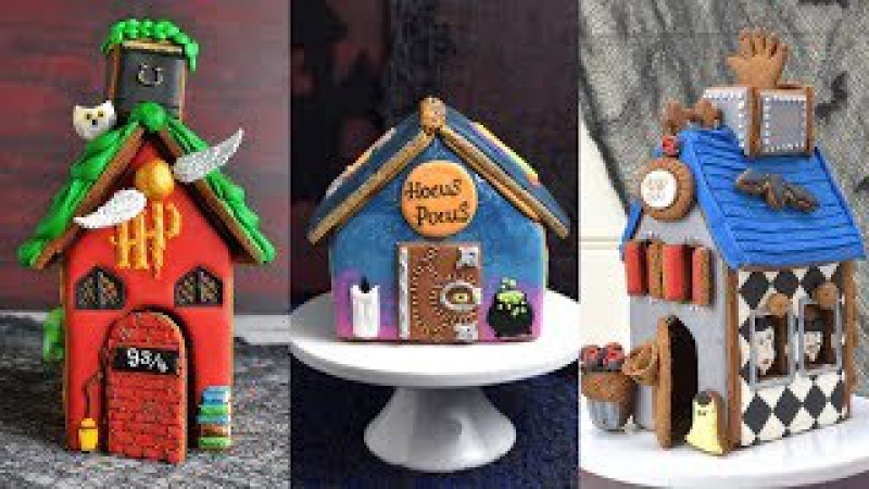HARRY POTTER ADDAMS FAMILY HOCUS POCUS GINGERBREAD HOUSE by HANIELA'S