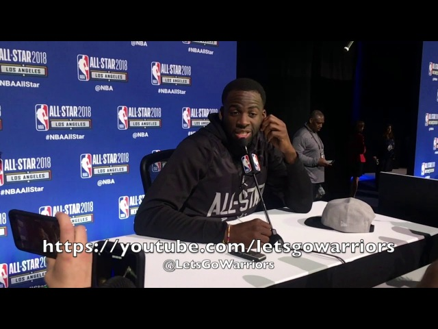 DRAYMOND GREEN media availability at TeamStephen NBA All-Star Practice, LA Convention Center