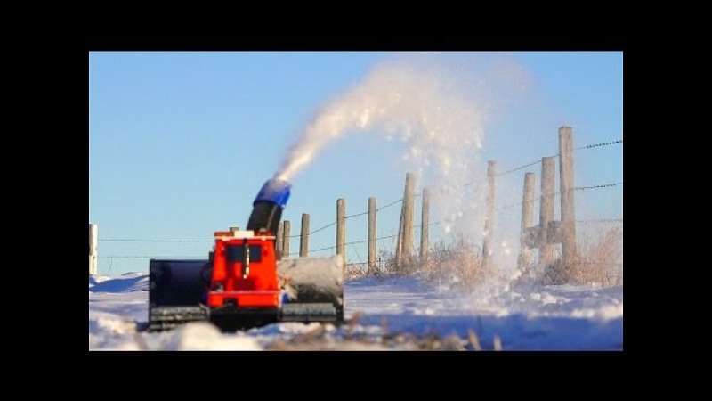 RC ADVENTURES - Radio Controlled 3D Printed Snow Blower, Tracked Kyosho Blizzard Spyker Workshop