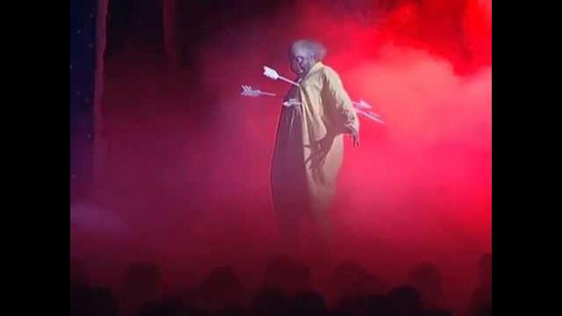 Стрелы - отрывок из сНежного Шоу Славы Полунина