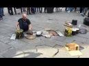 DARIO ROSSI DRUMMER full set Firenze Piazza della republica 09 04 16