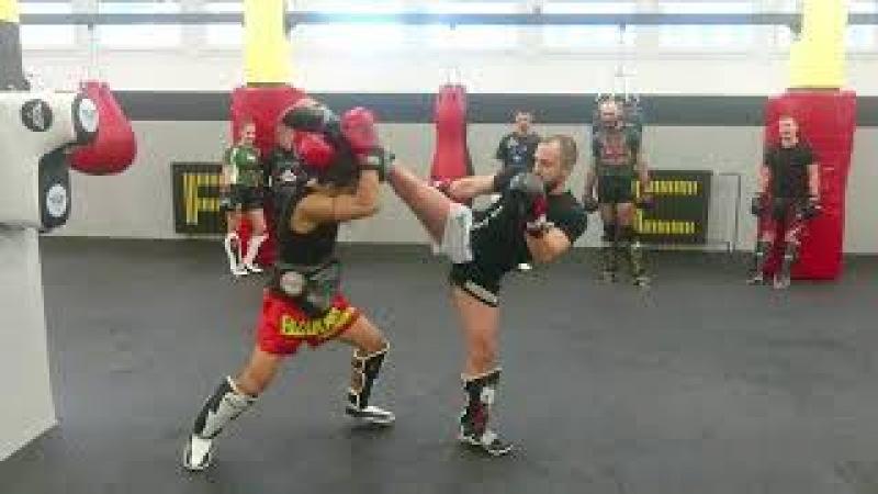 Low Kick Counters (leg, body, neck) Muay Thai Seminar in SFC-SportFightClub Usti nad Labem, CZ
