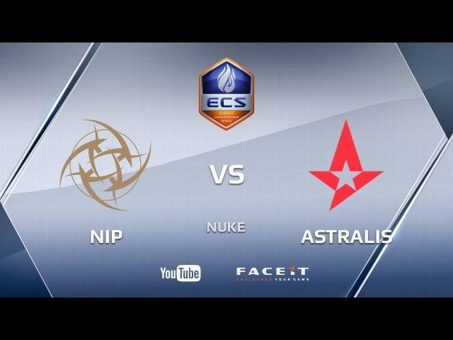 NiP vs Astralis, nuke, ECS Season 4 Europe