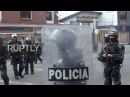 Colombia Masked students throw rocks at police in violent Bogota clashes