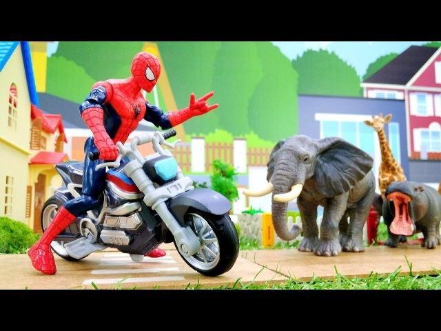 Видео про Человека Паука. Джокер выпустил зверей из Зоопарка!