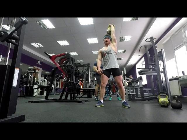 Тренировка к толчку 75 кг