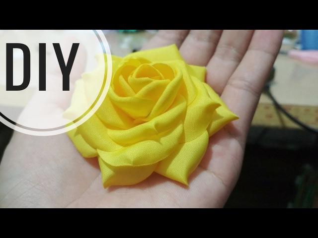 DIY | Cara Membuat Mawar Cubit Asahi | Tutorial Fabric Flower | Rose
