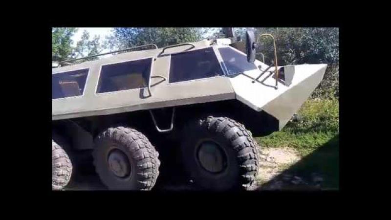 28. БТР 60 выезд из дома на воду. 8х8 off-road. Soviet military equipment.