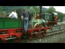 Der Adler mit Zug auf freier Fahrt in Ebermannstadt am 23 7 2000