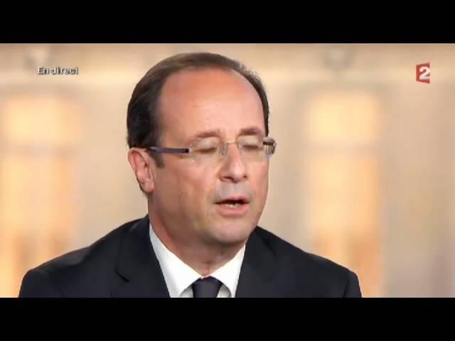 Hollande Moi président de la République...