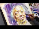 Watercolor Portrait Painting Demo - Artist Atanur DOĞAN - Model Guen WEIXING - China