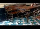 Кованый стол и скамейки, лавочки, лавка, скамья
