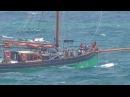 ПАРУСНАЯ ШХУНА В ШТОРМОВОМ МОРЕ Brixham Sailing Trawler Provident Leaving Torbay 18 07 2017