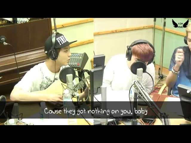 Lyrics HD 130813 EXO D O Nothin' On You guitar by Chanyeol Acoustic Ver KTR