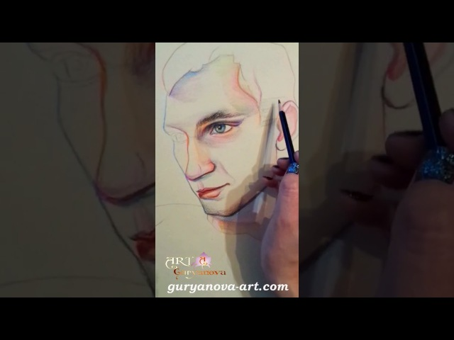 A R T Gallery |Художник Гурьянова Анастасия. Рисуем портрет цветными карандашами