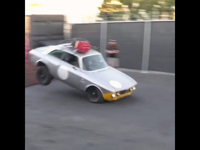 "Alfa Romeo FanClub® on Instagram ""No Why! 1974 Alfa Romeo GTV 2000 destroyed by this stunt! Video @thehoonigans Owner @dropped_alfa Would ..."