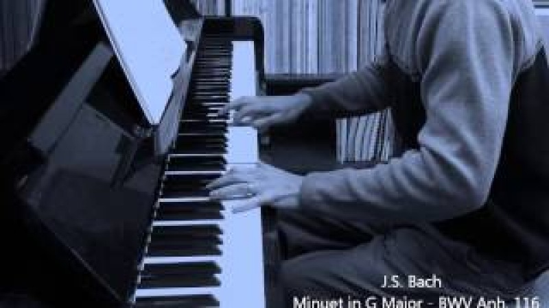 Bach - Minuet in G Major BWV Anh 116 - Christopher Brent, piano
