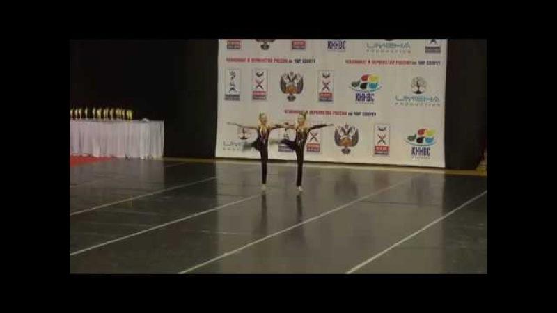 Cheerleading .Чир - хай кик - двойка -Алена Большакова,Кристина Грицай.
